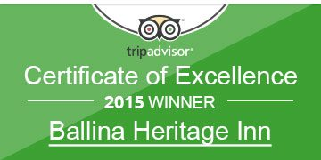 Certificate of excellence ballina accommodation